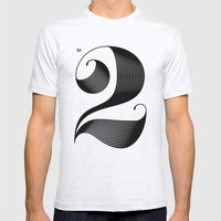 No. 2 Mens Fitted Tee Ash Grey SMALL
