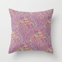 Cell Floral Throw Pillow
