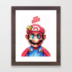 Beat Up Mario Framed Art Print