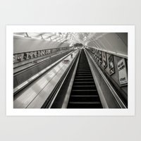 Leicester Square Tube 5am (Cold) Art Print