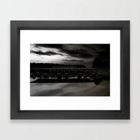Lake lanier marina. Framed Art Print