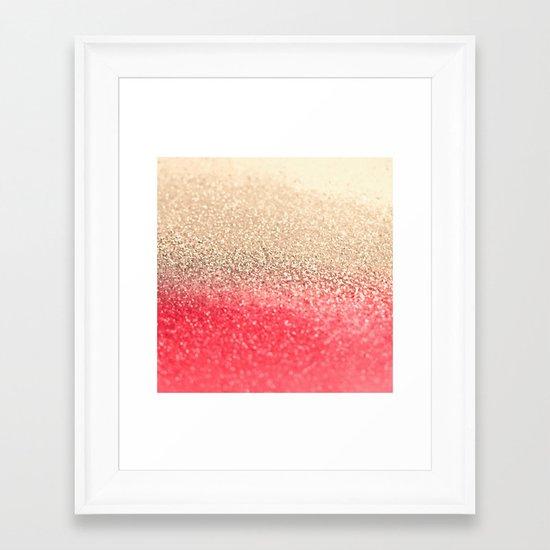 GOLD CORAL Framed Art Print