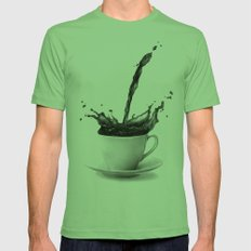 Coffee Mens Fitted Tee Grass SMALL