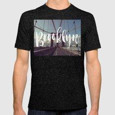 Brooklyn Bridge Photogra… Mens Fitted Tee Tri-Black SMALL