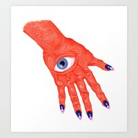 All-Seeing Nails Art Print