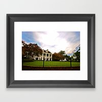 Plantation Skies Framed Art Print