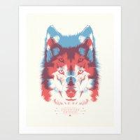 WOLF 3D Art Print