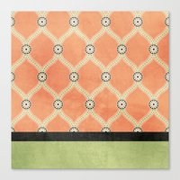 Tangerine Deco Canvas Print