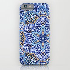 Blue Morocco Tile Mandala iPhone 6 Slim Case