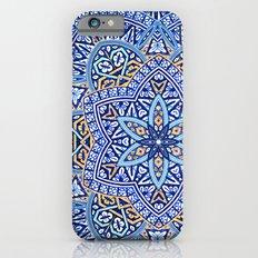 Blue Morocco Tile Mandala iPhone 6 Slim Case