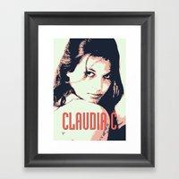 CLAUDIA C Framed Art Print