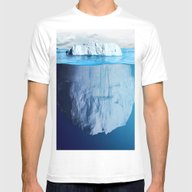 Deep Iceberg Mens Fitted Tee White LARGE