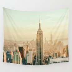 New York City Skyline Dreams Wall Tapestry