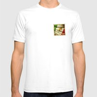 STICKER OF MEXICO Flag Mens Fitted Tee White SMALL