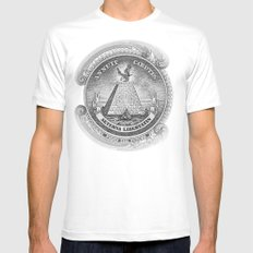 Freedom SMALL White Mens Fitted Tee