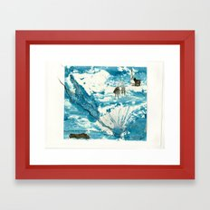 mermaid of Zennor collagraph 1 Framed Art Print