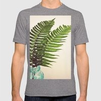 Ferns II Mens Fitted Tee Tri-Grey SMALL
