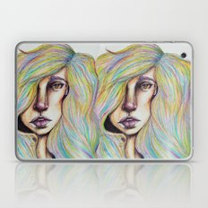 CRAYON LOVE:Woman in the Rainbow Hair Laptop & iPad Skin