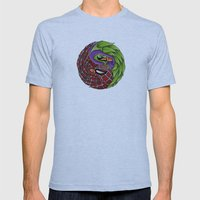 spider yin yang Mens Fitted Tee Athletic Blue SMALL