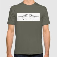 Black and White Blue Jay Mens Fitted Tee Lieutenant SMALL