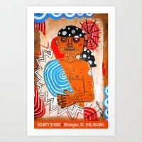 Surf'n Dude Art Print