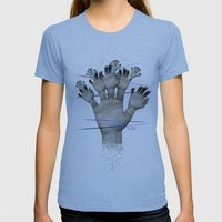 Elementum Womens Fitted Tee Athletic Blue SMALL