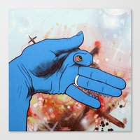 Artist's Hand Portrays Lyin' Ass Dog Whose Sweet Wife Thinks He Is Working Late At The Office Canvas Print