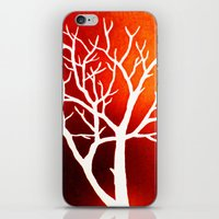 BLAZING TREES iPhone & iPod Skin