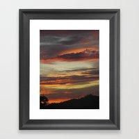Caribbean Sunset I Framed Art Print