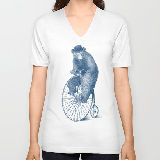 Morning Ride - Blue Option V-neck T-shirt