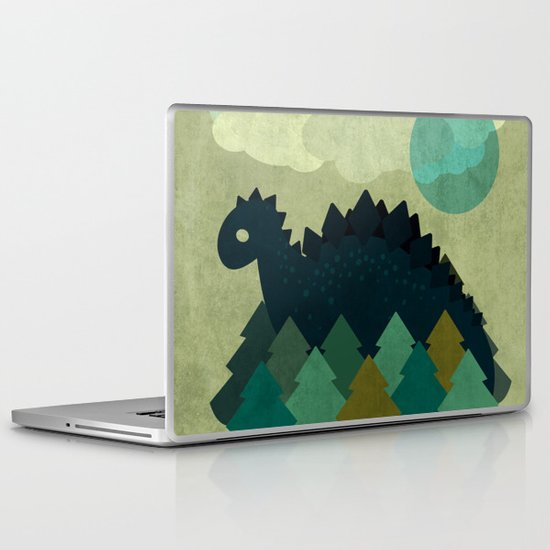 BLUE DINO Laptop & iPad Skin