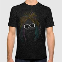 George Clinton Mens Fitted Tee Tri-Black SMALL
