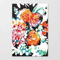 Brush Floral Canvas Print