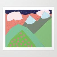 Them Hills Art Print