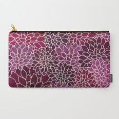 Floral Abstract 12 Carry-All Pouch