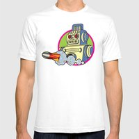 Robot 2.0 Mens Fitted Tee White SMALL