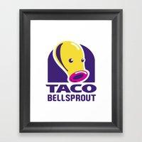 Taco Bellsprout Framed Art Print