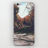 Kenisis Lake Fall Road iPhone & iPod Skin