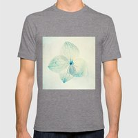 Pastel Hydrangea Mens Fitted Tee Tri-Grey SMALL