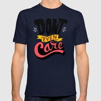 Don't Even Care Mens Fitted Tee Navy SMALL
