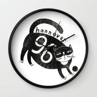 96 Katze Wall Clock