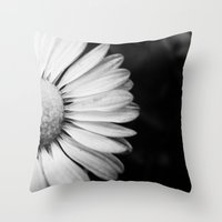 Black And White Flower M… Throw Pillow