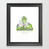 NBA CHAMPS MIAMI HEAT (L… Framed Art Print