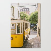 Yellow Cable Car Canvas Print
