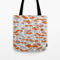 City Grid Day Print Tote Bag