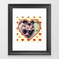 Pom Framed Art Print