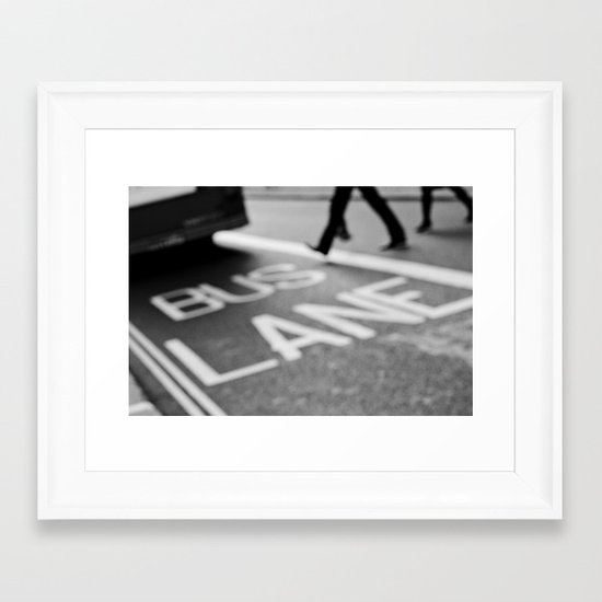 Bus line London Framed Art Print