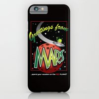 iPhone & iPod Case featuring Greetings from Mars! by Robert C. Kraft