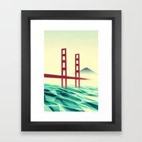 Misty day at the Golden Gate Framed Art Print