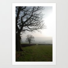 Gate in the distance Art Print